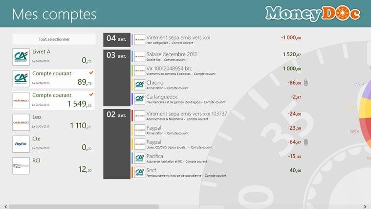 MoneyDoc pour Windows 10