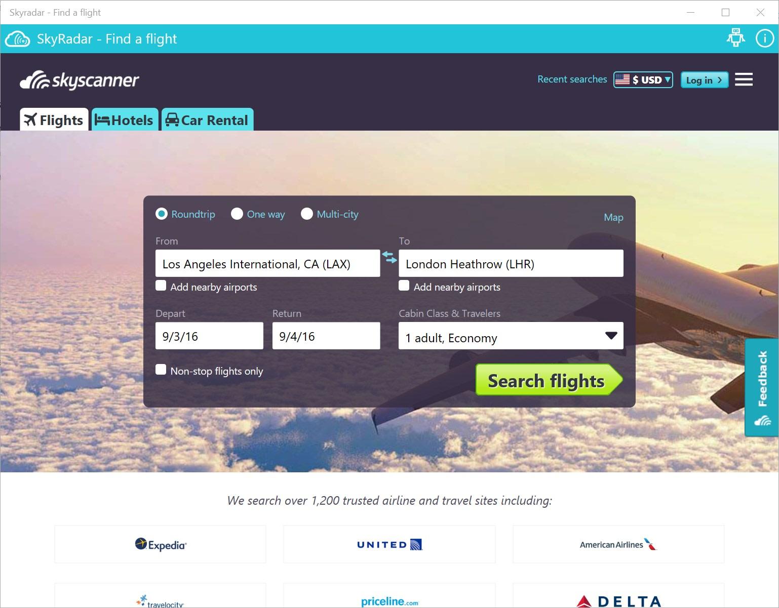 Skyradar - Find a flight