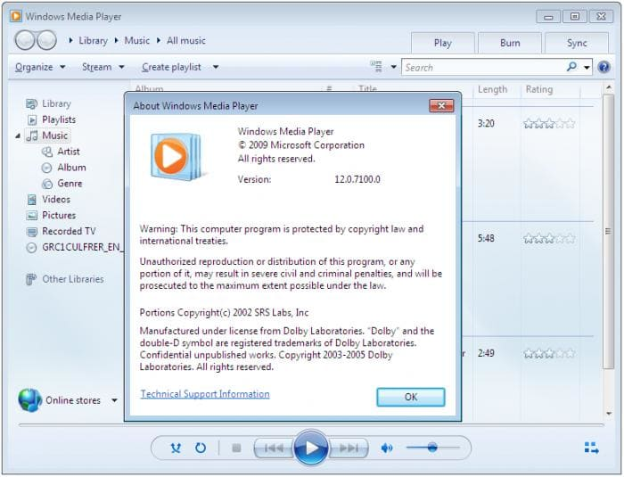 Windows Media Player 12 Build 951929 - ダウン …