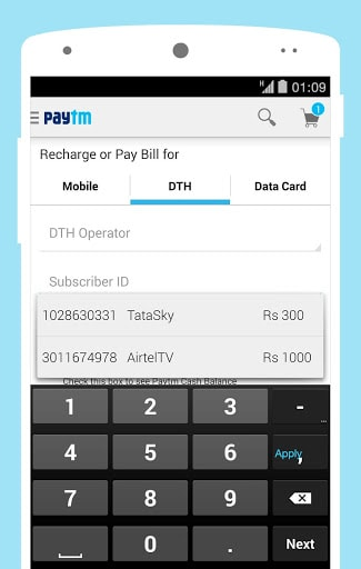Mobile, DTH Recharge&Shopping
