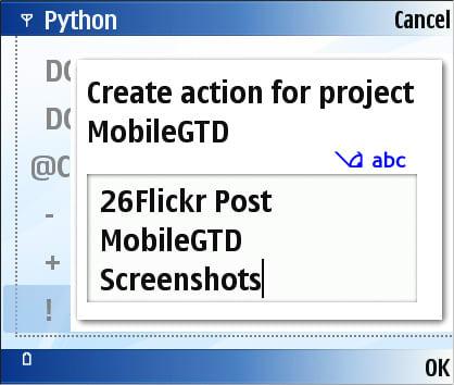 Mobile GTD
