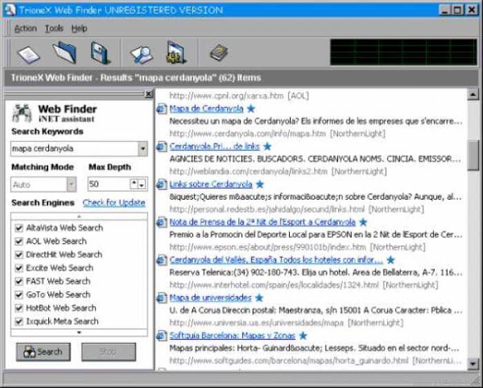TrioneX Web Finder