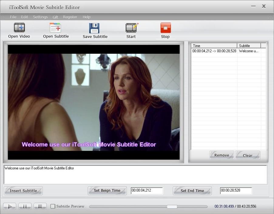 iToolSoft Movie Subtitle Editor