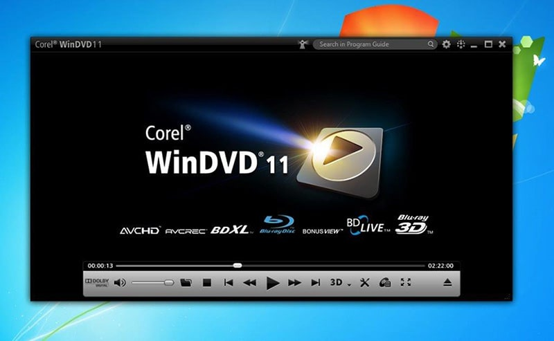 Leading Blu-ray 3D player software – Corel WinDVD Pro 11