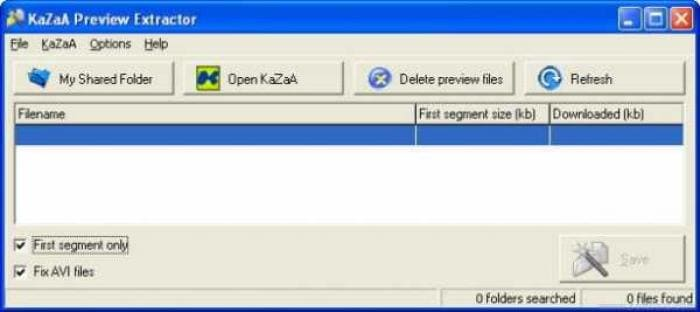 KaZaA Preview Extractor