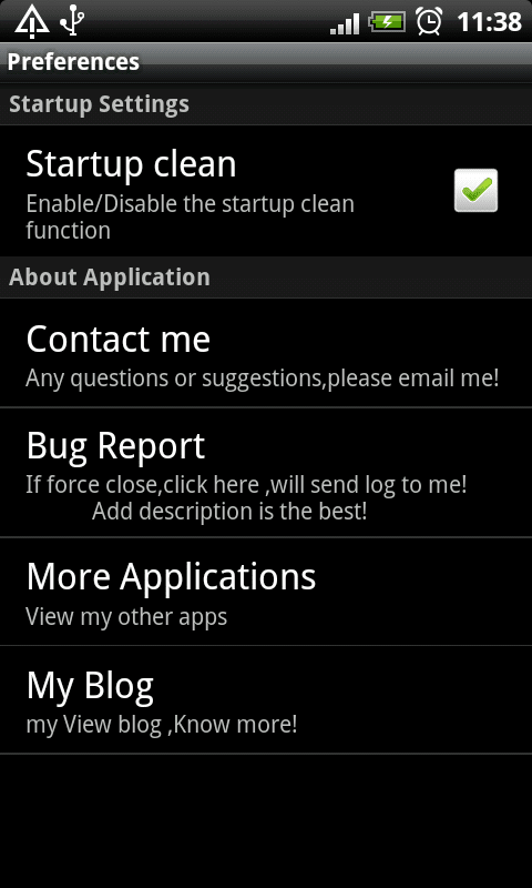 Startup Cleaner