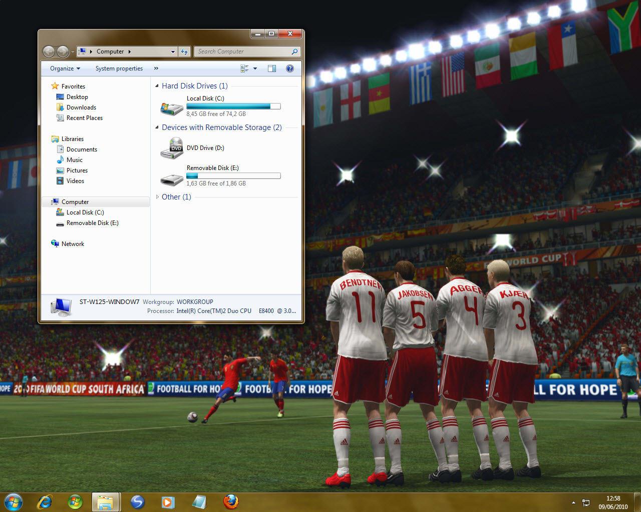 Темы на компьютер футбол скачать бесплатно