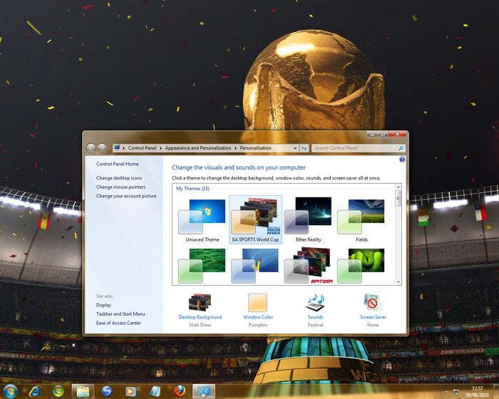 Thème EA Sports - Coupe du monde de la FIFA pour Windows 7