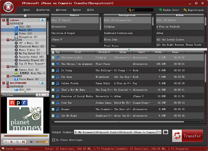 4Videosoft Transfert iPhone-PC