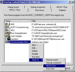 StartUp Control Panel