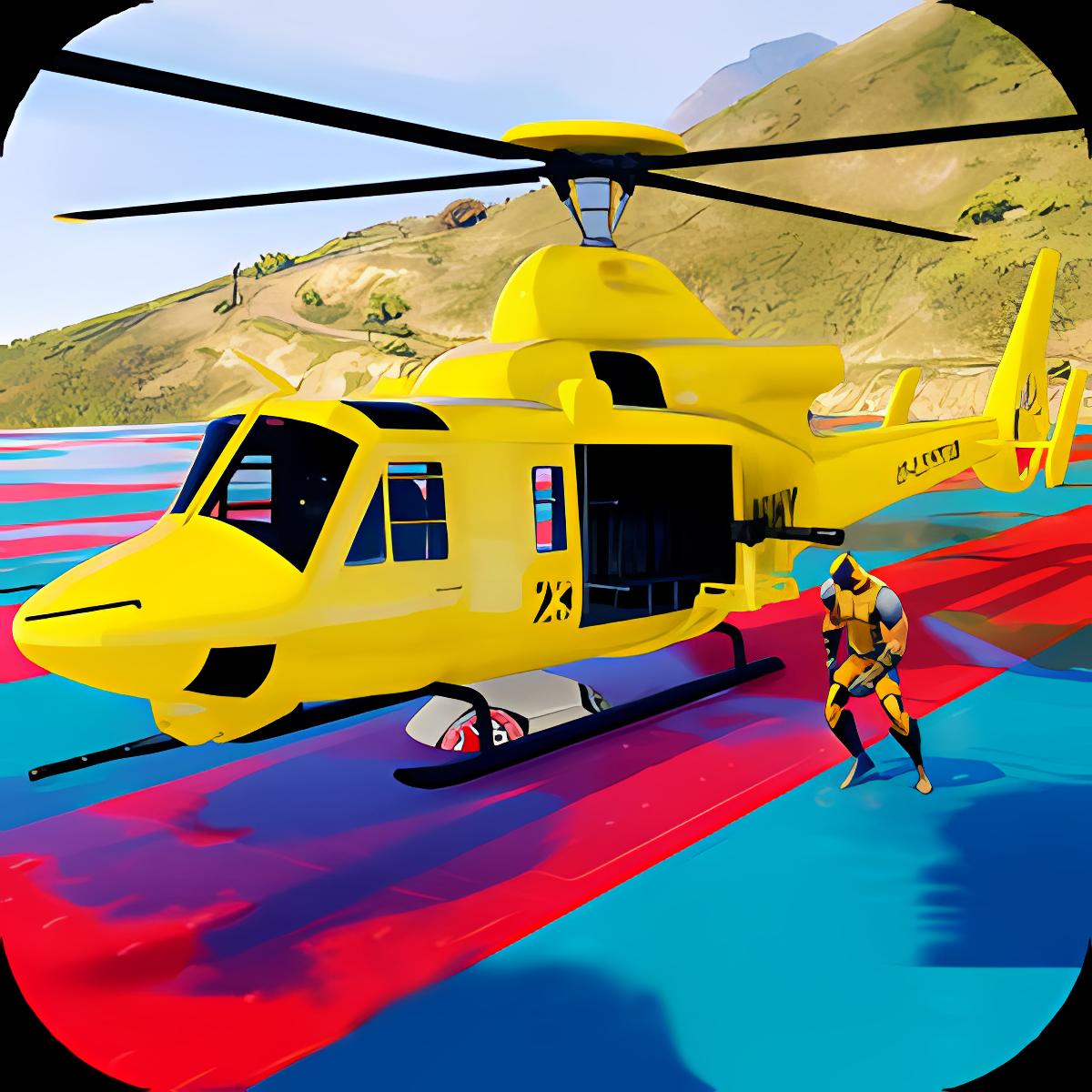 Superheroes Flying Helicopter Racing 1.1