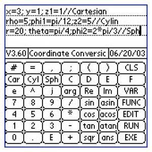 Coordinates converter