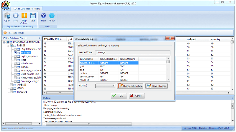 SQLite Database Recovery