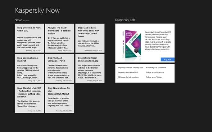 Kaspersky Now pour Windows 10