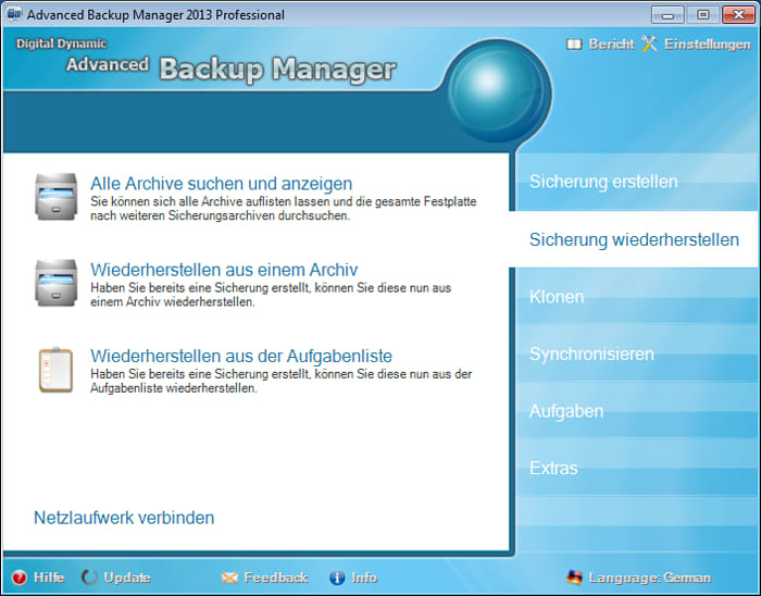 Advanced Backup Manager