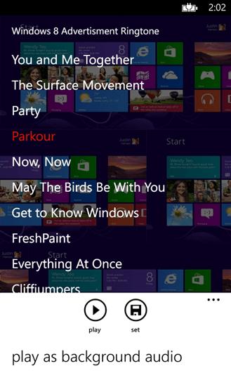 Windows 8 Ringtone