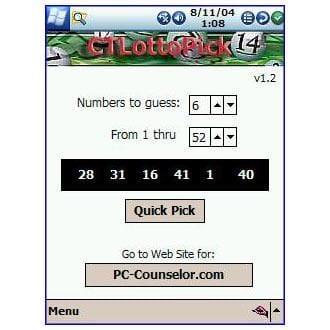 Lottery Quick Pick
