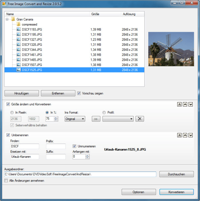 Free Image Convert and Resize