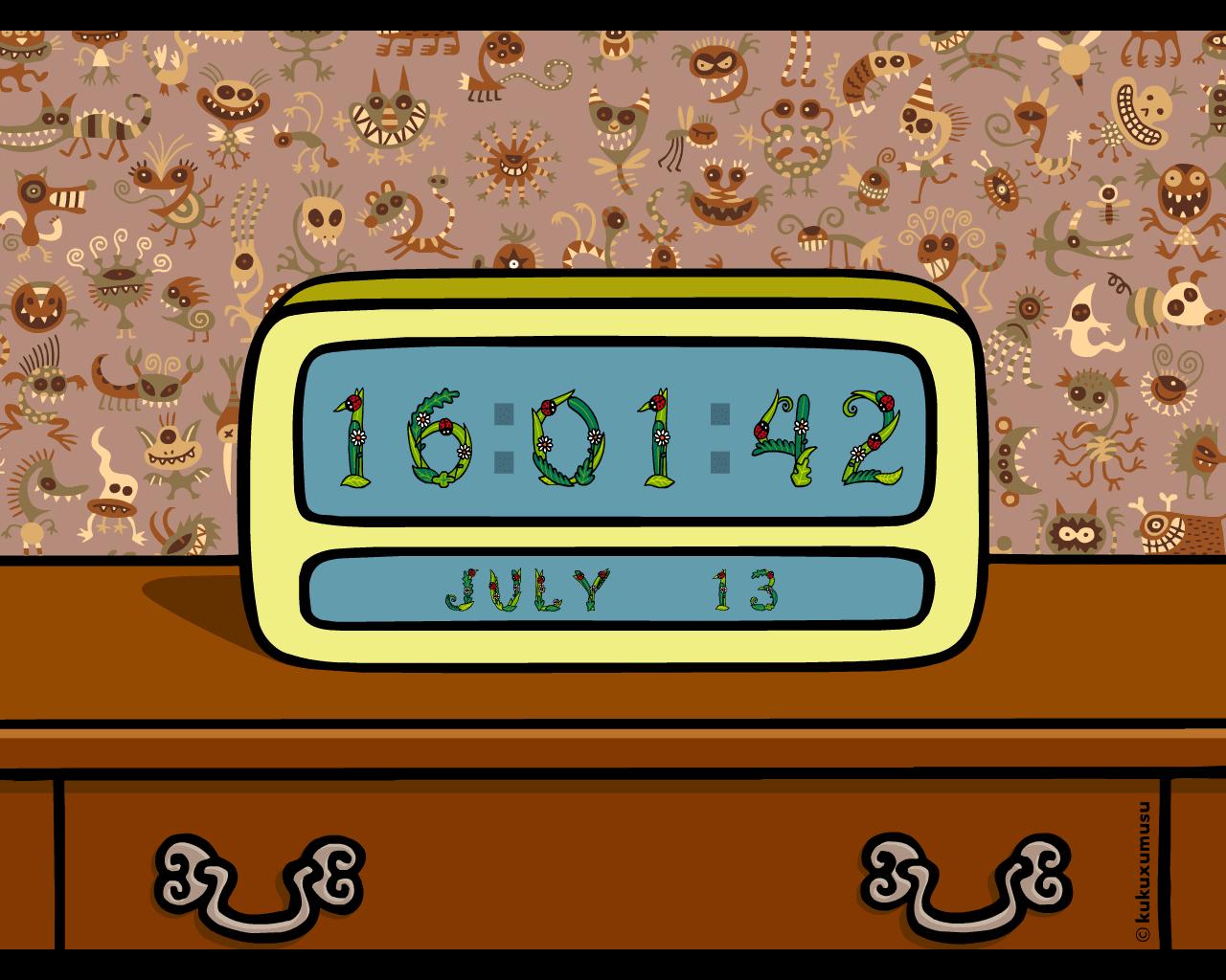 Kukuxumusu Digital Clock
