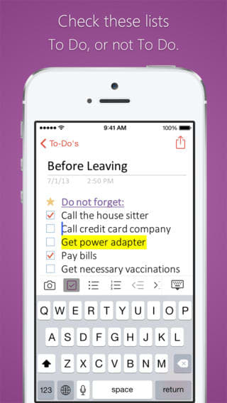 Microsoft OneNote na iPhone