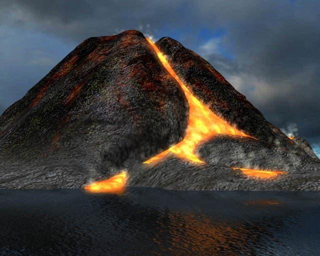Active Volcano 3D Screensaver