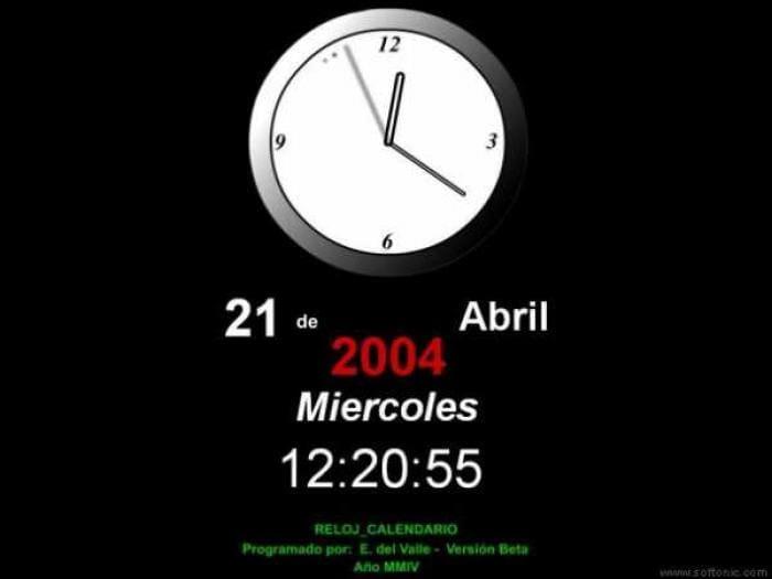 Reloj Calendario