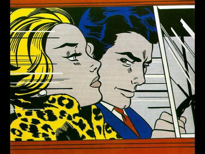 Lichtenstein - In the Car wallpaper