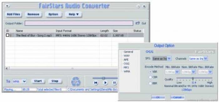 FairStars Audio Converter