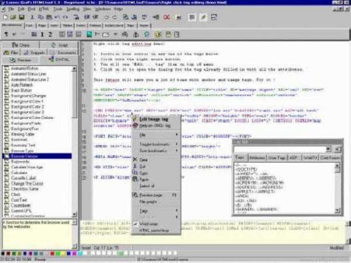Lorenz Graf's HTMLtool