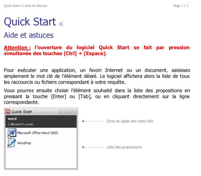 Quick Start - Télécharger