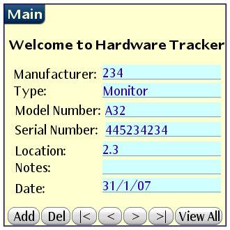 Hardware Tracker