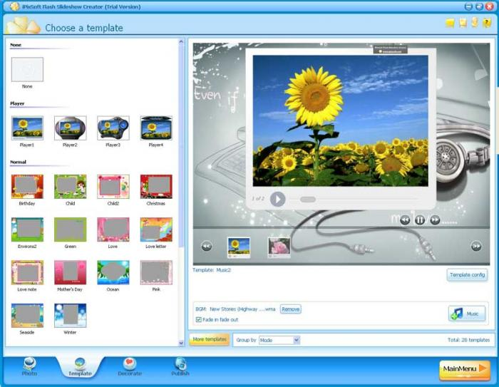 Flash Slideshow Creator