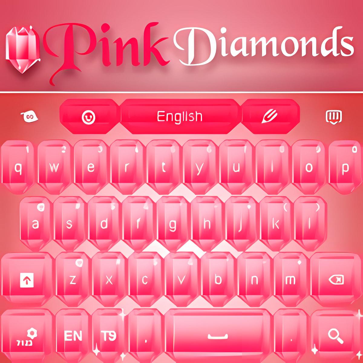 Diamantes Rosa Teclado