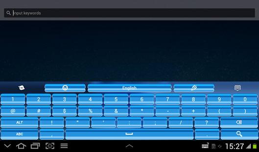 Teclado azul para Android