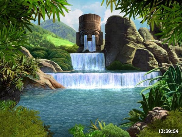Waterfalls and Ancient Gods screensaver