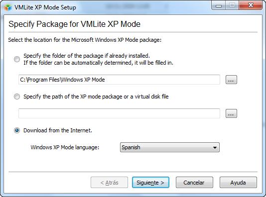 VMLite XP Mode