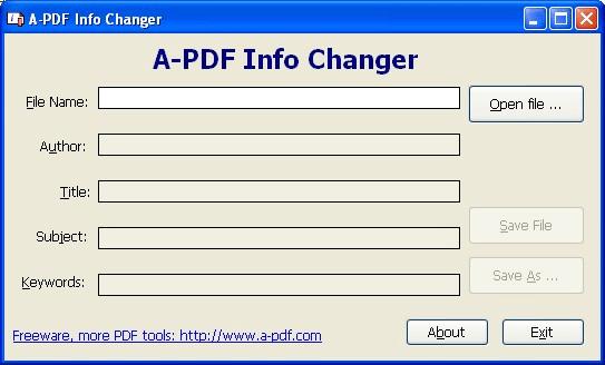 A-PDF INFO Changer