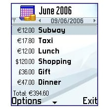 Expense Calendar