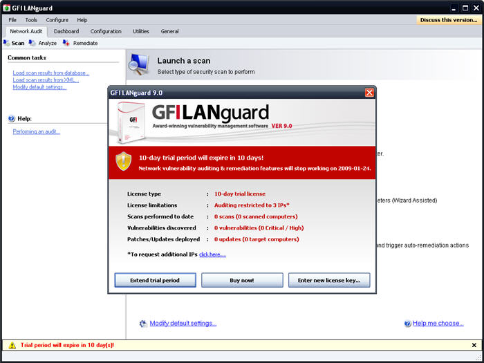 GFI LanGuard Network Security Scanner