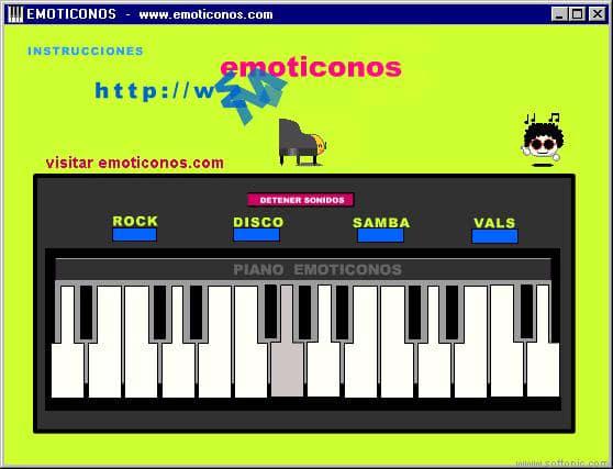 Piano emoticonos
