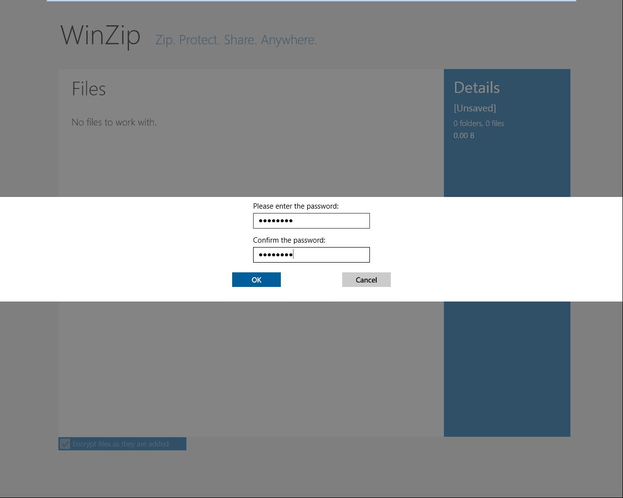 WinZip pour Windows 10