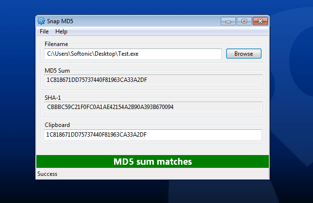 Snap MD5