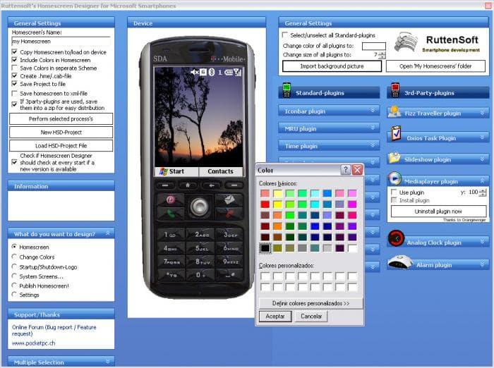 Homescreen Designer