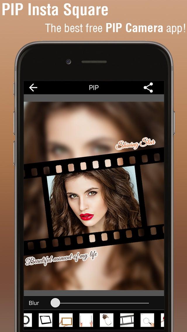 PIP Camera - Plaza Image Maker y Photo Editor con diseño de Instagram