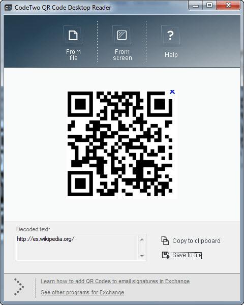 Code Two QR Code Desktop Reader