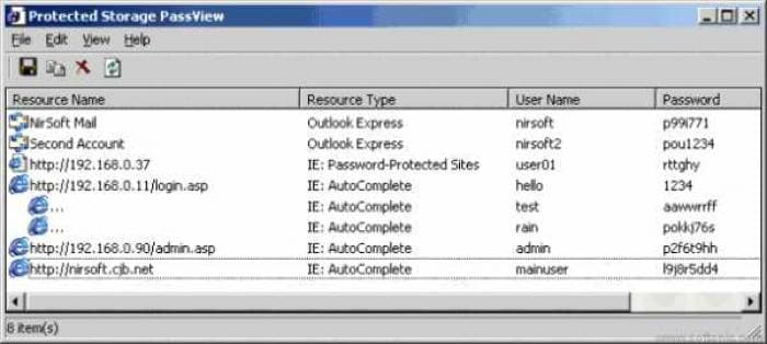 Protected Storage PassView