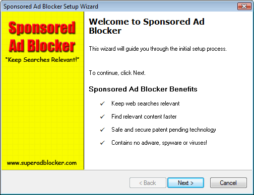 Sponsored Ad Blocker