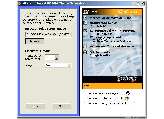 Theme Generator for Pocket PC 2002