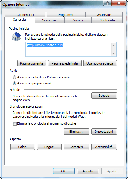 Internet Explorer 10 per Windows 7