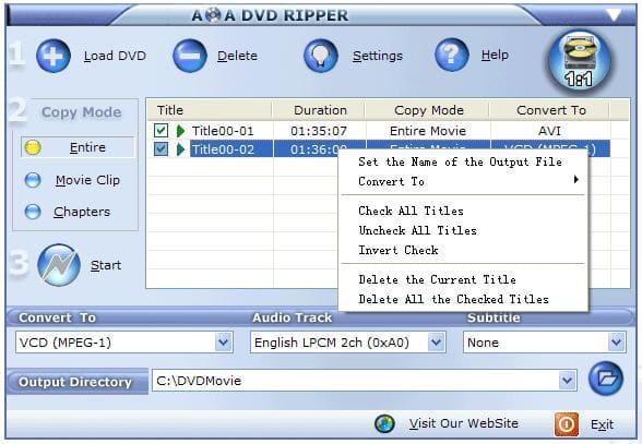 AoA DVD Ripper